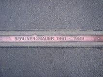 Marca del muro de Berlín fotografía de archivo