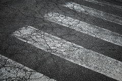 Marca del paso de peatones Fotografía de archivo