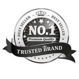 Marca di fiducia Best-seller, qualità premio - icona/etichetta/distintivo brillanti Immagini Stock