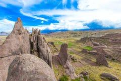Marca di Hayu, lo stargate misterioso e formazioni rocciose uniche n Fotografia Stock Libera da Diritti