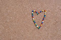 Marca do amor Imagens de Stock
