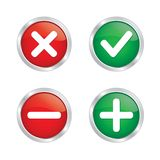 Marca do tiquetaque e botão da cruz ilustração do vetor