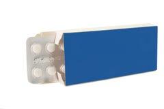 Marca en la tableta píldoras en paquete foto de archivo libre de regalías