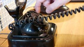 Marca en un teléfono del vintage