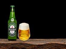 Marca global de la cerveza de Heineken foto de archivo