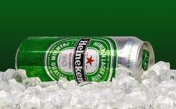 Marca global de la cerveza de Heineken imagen de archivo