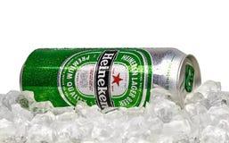 Marca global de la cerveza de Heineken fotografía de archivo libre de regalías