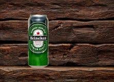 Marca global de la cerveza de Heineken fotos de archivo libres de regalías