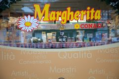 Marca italiana della vendita al dettaglio immagini stock