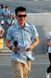 Marca Lee do anfitrião do evento no ensaio 2009 de NDP Imagem de Stock