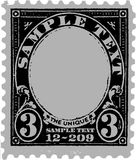 Marca postal velha preta ilustração royalty free