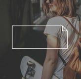 Marca que califica a Logo Label Rectangle Concept fotos de archivo