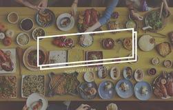 Marca que califica a Logo Label Rectangle Concept foto de archivo libre de regalías