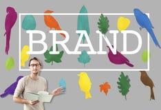 Marca registrada de marcagem com ferro quente Logo Copyright Concept do tipo fotografia de stock royalty free