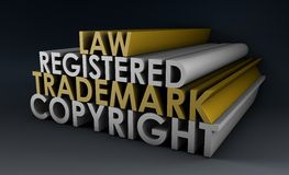 Marca registrada registrado y de los derechos reservados ilustración del vector