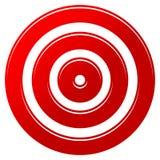 Marca vermelha do alvo - ícone do alvo ilustração do vetor