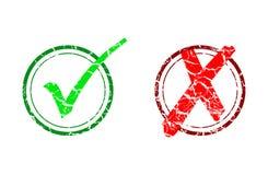 Marca y cancelación de verificación Imagen de archivo libre de regalías