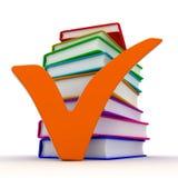 Marca y libros de verificación Imagen de archivo