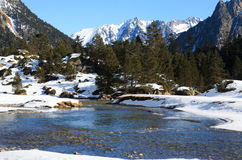 Marcadau valley in winter. Royalty Free Stock Images