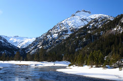 Marcadau valley in winter Pyrenees Royalty Free Stock Photography