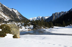 Marcadau valley in winter Pyrenees Stock Images
