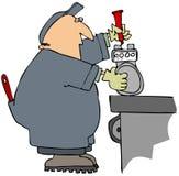 Marcado de un contador de gas Imagen de archivo libre de regalías