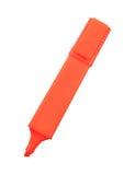 Marcador anaranjado Imágenes de archivo libres de regalías