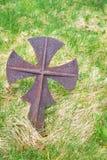 Marcador antiguo del sepulcro del hierro Fotografía de archivo libre de regalías
