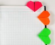 Marcador caseiros de papel coloridos Fotografia de Stock Royalty Free