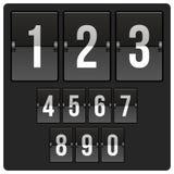 Marcador con números Imagenes de archivo