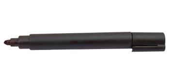 Marcador da ponta de feltro do preto isolado Imagem de Stock Royalty Free