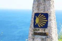 Marcador de Camino de santiago imagens de stock royalty free