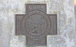 Marcador de la guerra hispanoamericana Fotos de archivo libres de regalías