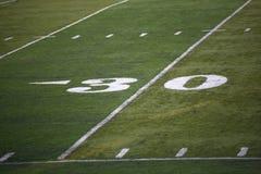 Marcador de yarda del campo de fútbol Fotos de archivo