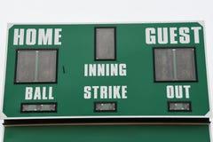 Marcador del béisbol imagenes de archivo