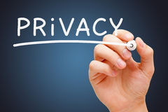 Marcador del blanco de la privacidad Fotografía de archivo libre de regalías