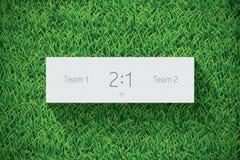 Marcador del fútbol/del fútbol en hierba Vector realista Imágenes de archivo libres de regalías