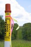 Marcador del gaseoducto Imagen de archivo libre de regalías