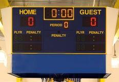 Marcador del hockey sobre hielo Imagenes de archivo