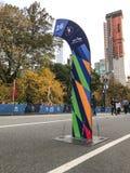 Marcador del maratón de NYC Foto de archivo libre de regalías
