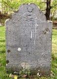 Marcador del sepulcro de Witch's del pueblo de York Foto de archivo