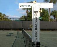 Marcador del tenis Imágenes de archivo libres de regalías