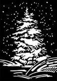 Marcador dibujado mano del árbol de navidad Foto de archivo libre de regalías