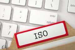Marcador do arquivo do índice de cartão com ISO da inscrição 3d Imagens de Stock Royalty Free