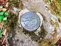 Marcador do ponto da elevação do estudo geológico Foto de Stock Royalty Free