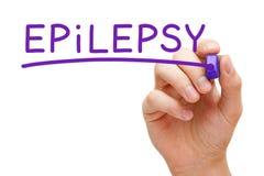 Marcador do roxo da epilepsia fotografia de stock royalty free