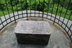 Marcador en la propiedad donde el décimo octavo presidente se colocaba por último, Grant Cottage, Saratoga Springs, Nueva York, 2 Imagenes de archivo