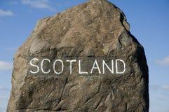 Marcador escocês da beira Imagens de Stock Royalty Free