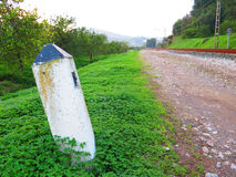 Marcador ferroviario en trébol Imagen de archivo