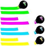 Marcador fluorescente Imagem de Stock Royalty Free